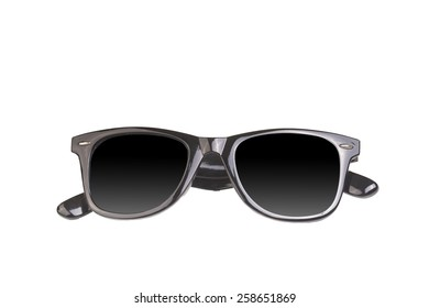 an image of sun glasses isolated over the white background