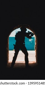 Image of tactical elements, such as military materiel, weapons and defense tactics.