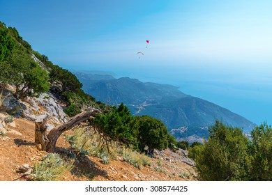 Image taken from the summit of Mount Babadag in the Dalaman region of Turkey in Europe