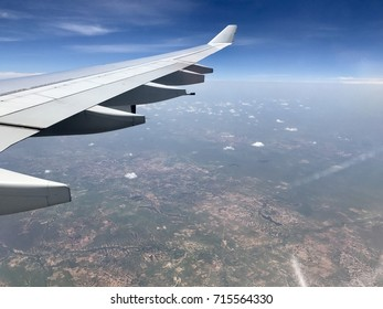Image taken from window of commercial airplane while flying over northern Mali
