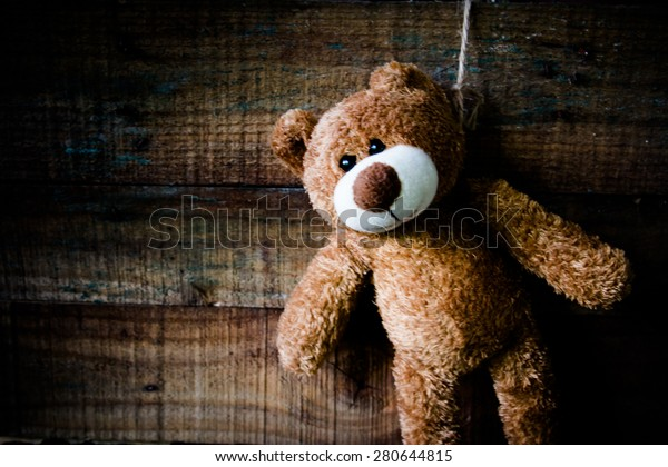 Image Teddy Bear Committing Suicide By Stock Photo (Edit Now) 280644815