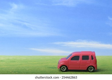 Image that uses a miniature car