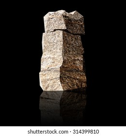image of the three-dimensional stone letter I