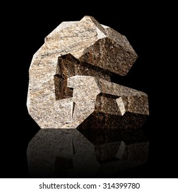 image of the three-dimensional stone letter G