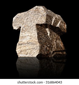 image of the three-dimensional stone letter T