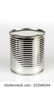Image of tin can on white background