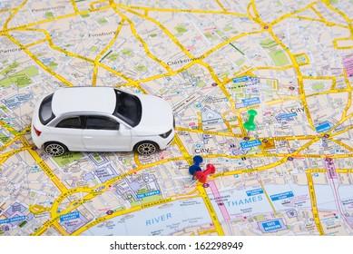 Auto Landkarte Freiheit Stock Photos Images Photography