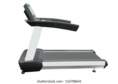 The image of a treadmill under the white background