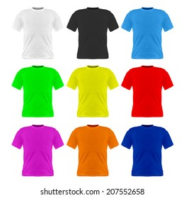 Image of tshirt isolated on a white background.
