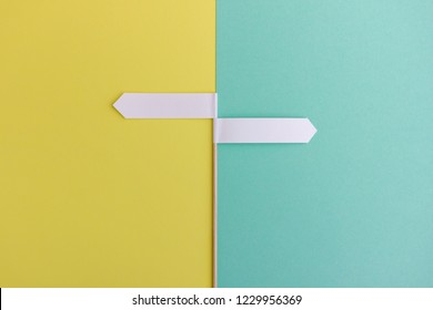 Image of two arrows pointing in opposite directions - Concept with space to add you own text