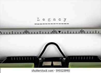 An image of a typewriter with a legacy