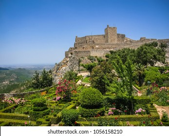 Image of uins of ancient medieval castle Marvao, Portugal