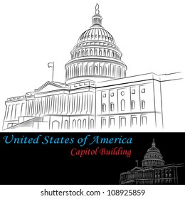 An image of the United States of America Capitol Building.