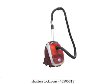 The image of vacuum cleaner under the white background
