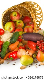 Image of various vegetables in a basket