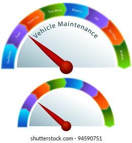 An image of a vehicle maintenance gauge.