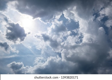 An image of a very cloudy sky weather