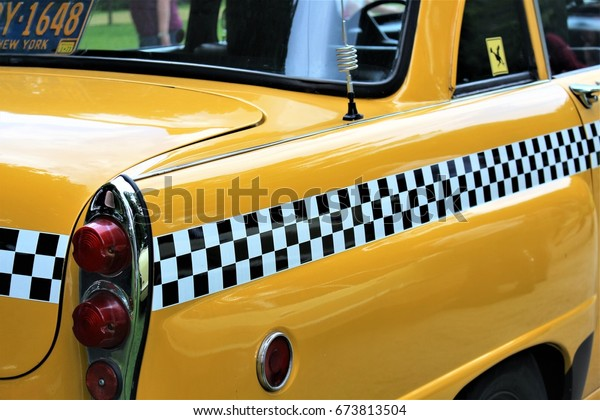 Image Vintage American Taxi Bad Pyrmontgermany Stock Photo Edit Now 673813504