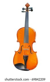 The image of violin under the white background