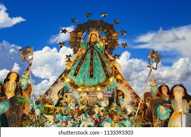 Image of the Virgin of the Candelaria venerated by the people of Puno in its festival, Peru.