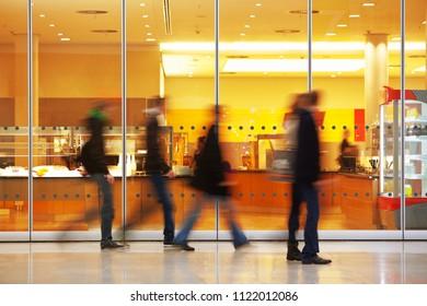 image of walking people