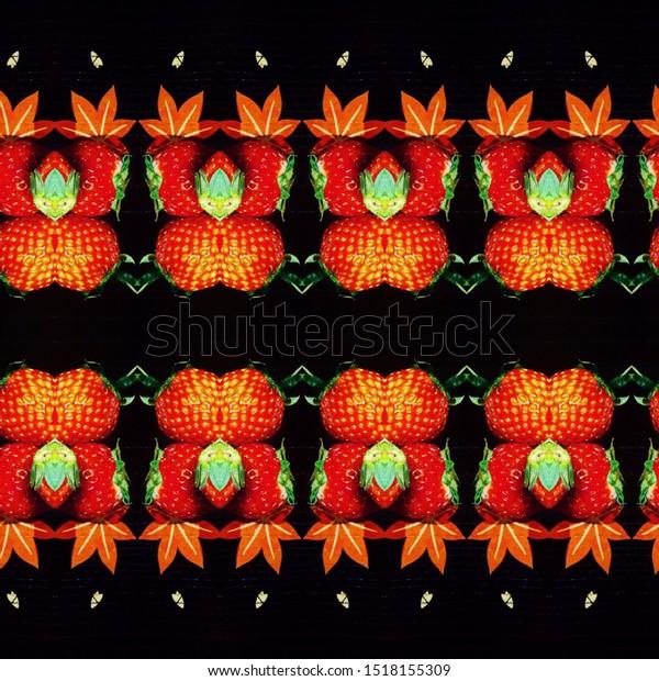 Image Wallpaper Strawberries Japanese Tea Stock Photo Edit