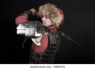 image of warrior during fight