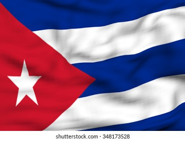 Image of a waving flag of Cuba