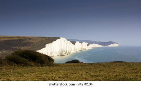 Image of White cliffes on the english channel coast line.