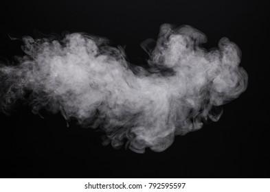 Image white isolated smoke of e-cigarette