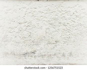 ฺBright image white painted cement wall background pattern extreme and grunge surface.