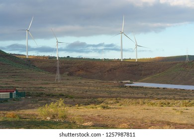 Image of wind turbines as alternative eco-friendly energy source at Gran Canaria island