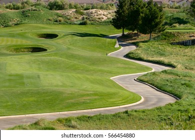 Image of a Winding cart path on golf course
