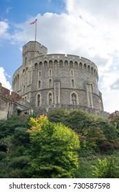 The image of Windsor Castle in UK.