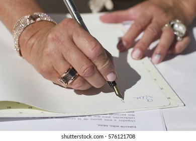 An image of a witness signing in a wedding