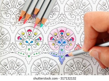 Coloring Book For Adults And Children Images, Stock Photos & Vectors ...