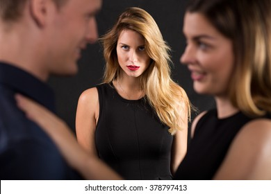 Image of woman feeling physical attraction to married man