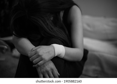 Image of a woman who is sad