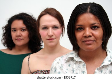 image of women of different race and background - African American woman leading the group