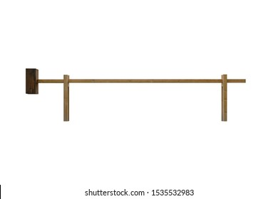 image of wooden barrier isolated on white background