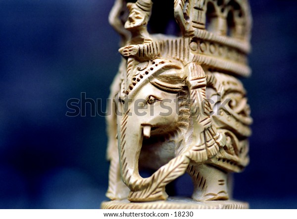 image of a wooden sculpture from India