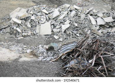 An image of Wreckage of dismantle work of warehouse