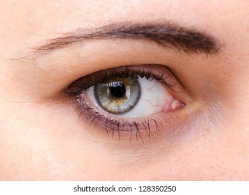 Image of a young woman's eyes