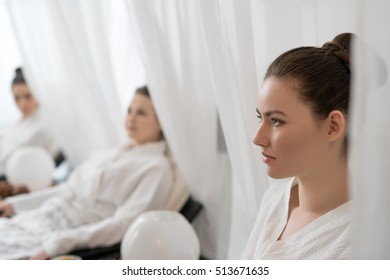 Image of young women relaxing in beauty salon