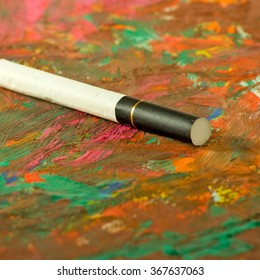 images cigarettes on a multicolored background close-up