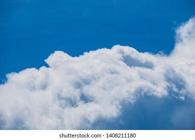 Images of Cumulonimbus clouds floating over BC, Canada