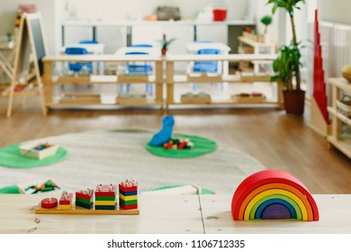 images of a montessori classroom with all its material for the school