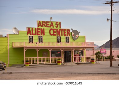 images from the  town of Amagrosa Valley Nevada 3/23/2016 This town is near area 51 thought to contain remains of aliens and prostitution is legal in the county.