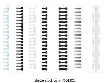 Images various sample ring binding and spiral binding
