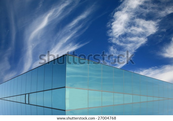 Imaginary modern building